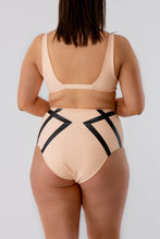 Load image into Gallery viewer, Adele Highwaist Bikini Bottom Delicate Black