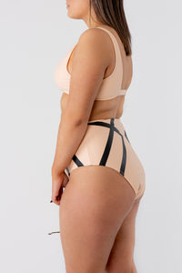 Adele Highwaist Bikini Bottom Delicate Black