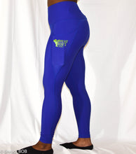 Load image into Gallery viewer, Royal Blue BBA Leggings with Pockets