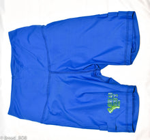Load image into Gallery viewer, Blue and lime green biker Shorts