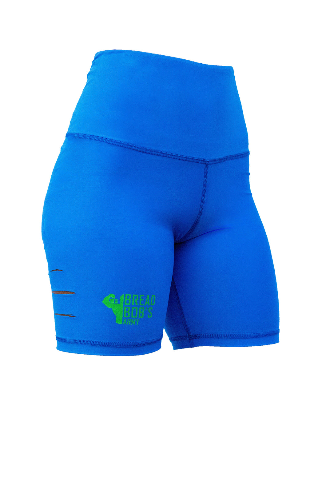 Blue and lime green biker Shorts