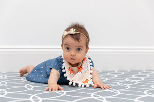 Pom Pom Bandana Bib - Sleepy Fox - Little Bee & Me