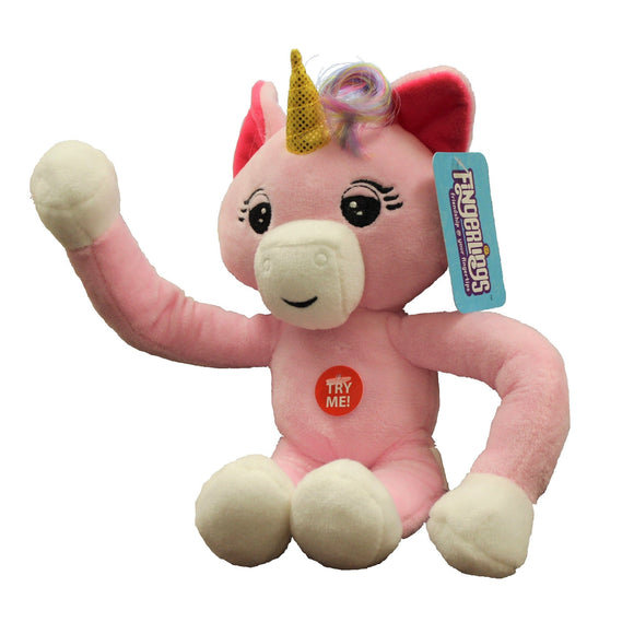 Fingerlings 10-Inch Posable Pink Unicorn Plush with Sound - ToyShnip