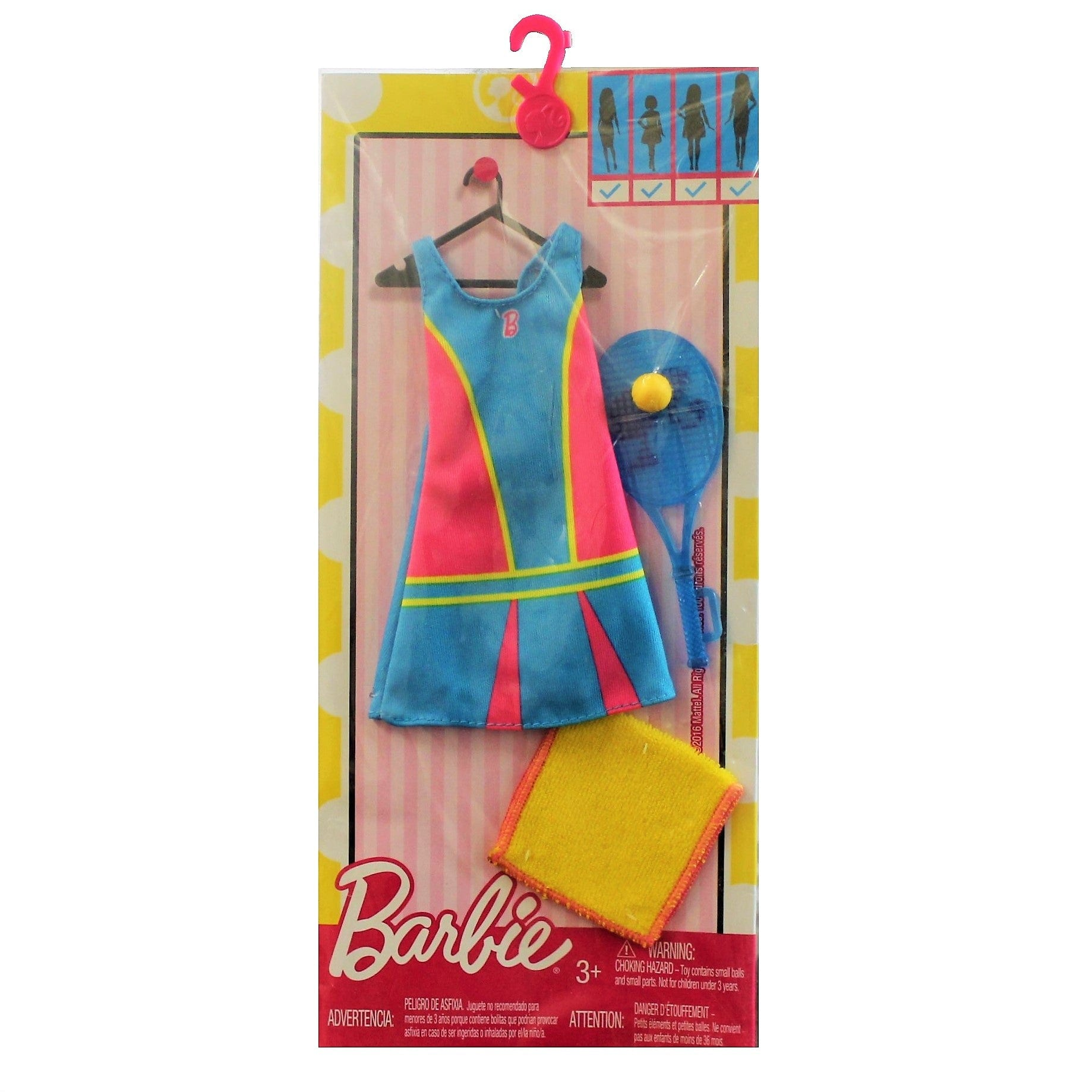 Barbie Fashions - Tennis Time Doll Outfit with Tennis Racket