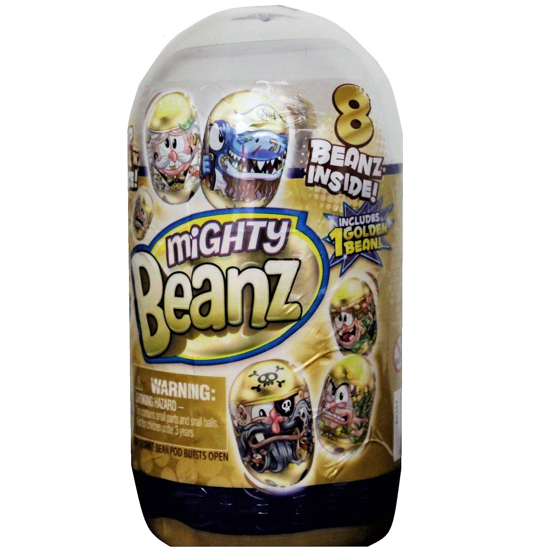 Mighty Beanz Golden Slam Pack - Includes 1 Golden Bean from the Golden Pirate series!