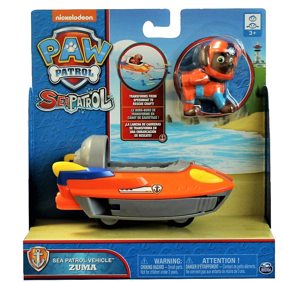 Spin Master Paw Patrol Basic Vehicle + Pup - Zuma