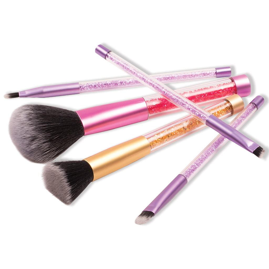 5 Piece Crystal Beads Make Up Brush Set