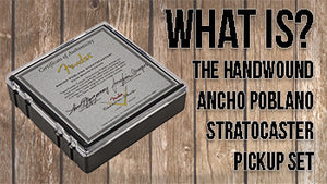 The Fender Custom Shop Hand-Wound Ancho Poblano Stratocaster Pickup Set