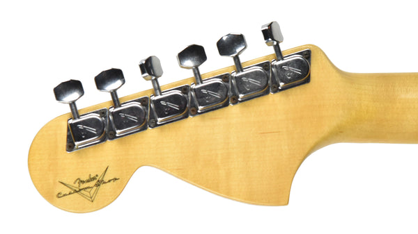 The back of the Headstock on a Fender Custom Shop 1969 Stratocaster Journeyman Relic