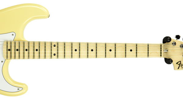 Check out the scalloped fingerboard on this Yngwie Malmsteen Stratocaster