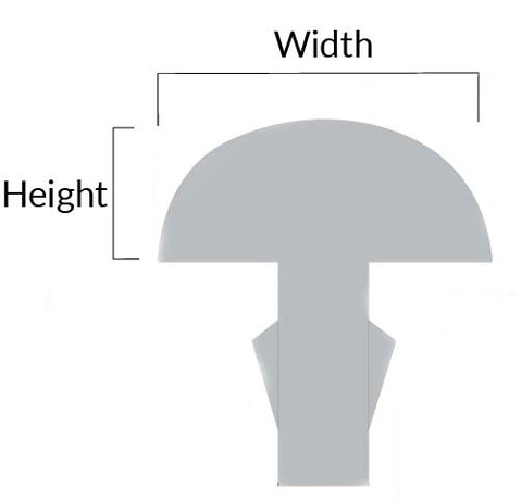 The 2 dimensions that matter most: Height and Width