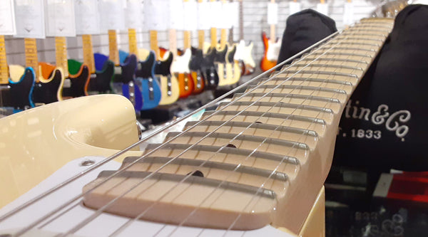The Scalloped Fingerboard on the Yngwie Malmsteen Stratocaster