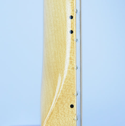 Vintage Frets on a Telecaster Thinline: Short and thin.