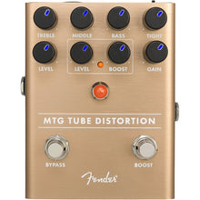 Fender MTG Tube Distortion Pedal Front Control Panel