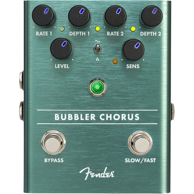 Fender Bubbler Analog Chorus Pedal | Front Control Panel | The Music Gallery | Pedal Controls