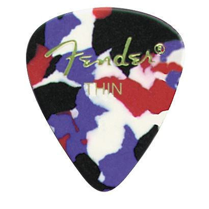 Fender® 351 Shape Classic Celluloid Picks - Thin Confetti 12-pack