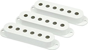 Fender® Stratocaster Guitar Pickup Covers - White - The Music Gallery