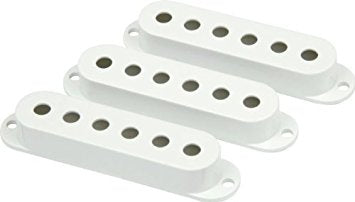 Fender® Stratocaster Guitar Pickup Covers - White | The  Music Gallery