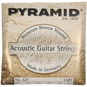 Pyramid .012-.052 Premium Bronze Acoustic Guitar Strings Light