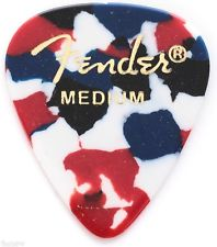 Fender® 351 Shape Classic Celluloid Picks - Medium Confetti Picks 12-pack