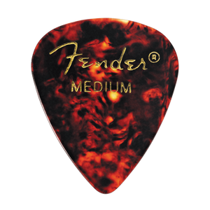 Fender® 351 Shape Classic Celluloid Picks - Medium Tortoise Shell 12-pack