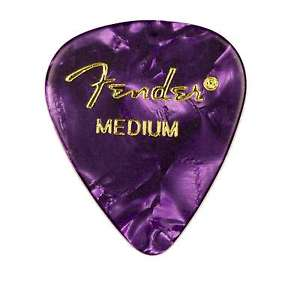 Fender® 351 Shape Premium Celluloid Picks - Medium Purple Moto 12-pack