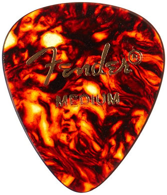 Fender® 451 Shape Classic Celluloid Picks - Medium Tortoise Shell 12-pack