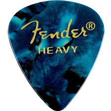 Fender® 351 Shape Premium Celluloid Picks - Heavy Ocean Turquoise 12-pack - The Music Gallery