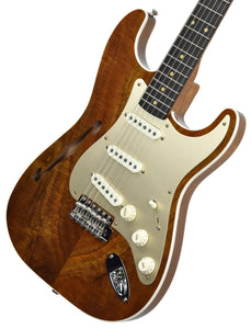 Fender Custom Shop Artisan Thinline Stratocaster Figured Koa CZ538324 | The Music Gallery | Front Angle 1