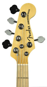 Fender® Dimension V Bass Natural | Headstock Front