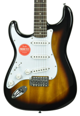 Squier Affinity Stratocaster Left Handed in Brown Sunburst CSSL19006649 - The Music Gallery