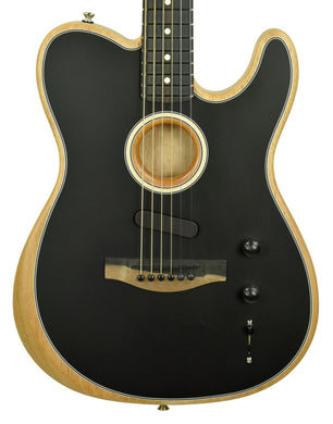 Fender American Acoustasonic Telecaster in Black US200679 - The Music Gallery