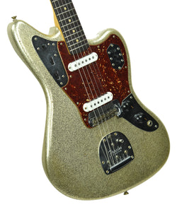 Used Fender Custom Shop 62 Jaguar Journeyman Relic Champagne Gold Sparkle R100114