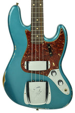 Fender Custom Shop 60s Jazz Bass Relic in Aged Ocean Turquoise CZ545766 - The Music Gallery