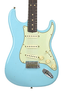 Fender Custom Shop 63 Stratocaster Journeyman Relic Daphne Blue R97847 Front Close