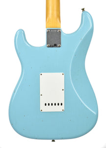 Fender Custom Shop 63 Stratocaster Journeyman Relic Daphne Blue R97847 - The Music Gallery