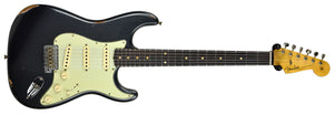 Fender Custom Shop 1961 Stratocaster Relic in Charcoal Frost Metallic CZ539087 - The Music Gallery