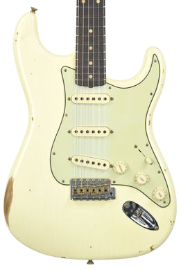 Fender Custom Shop 1961 Stratocaster Relic in Vintage White CZ539122 Front Close