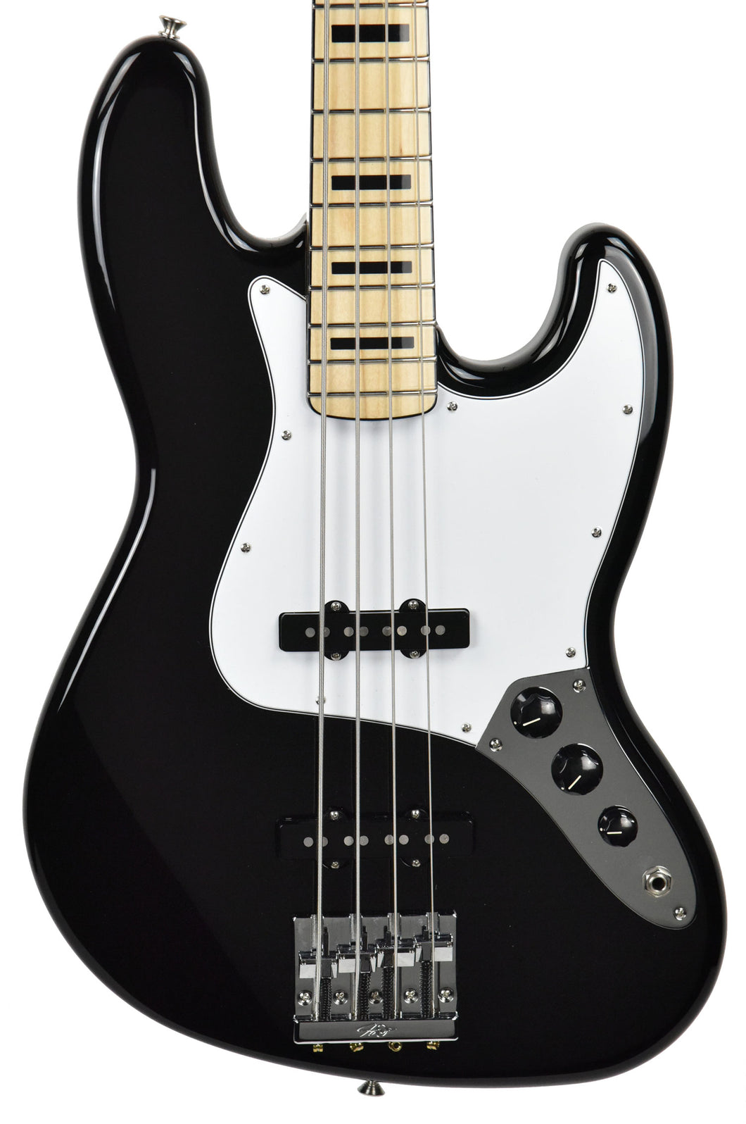 Fender® Geddy Lee Jazz Bass in Black MX18148860 Front Close