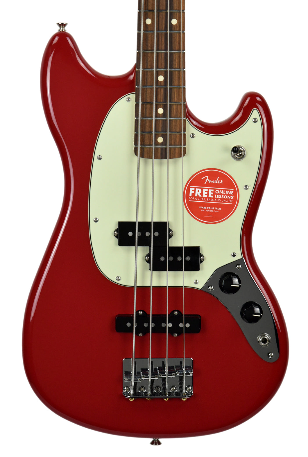 Fender Mustang Bass PJ in Torino Red MX18199428 - The Music Gallery