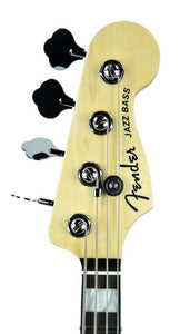 Fender® American Elite Jazz Bass in Ocean Turquoise - Headstock Front