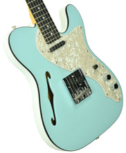 Fender 2019 Limited Edition Two-Tone Telecaster Thinline in Daphne Blue - White US19099876