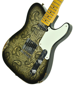 Fender Custom Shop LTD Roasted Pine Double Esquire Relic in Black Paisley R102906