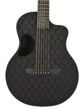 SEO Insights McPherson Touring Carbon Fiber Acoustic Guitar in Honeycomb Black 10009 Front Close