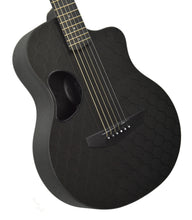 SEO Insights McPherson Touring Carbon Fiber Acoustic Guitar in Honeycomb Black 10009 Front Angle 1