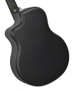 SEO Insights McPherson Touring Carbon Fiber Acoustic Guitar in Honeycomb Black 10009 Back Angle 1