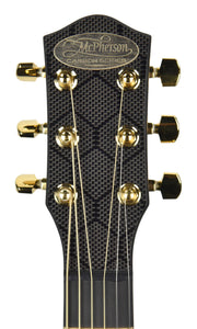 SEO Insights McPherson Touring Carbon Fiber Acoustic Guitar in Honeycomb Black 10009 Headstock Front