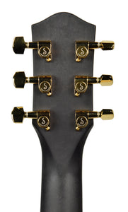 SEO Insights McPherson Touring Carbon Fiber Acoustic Guitar in Honeycomb Black 10009 Headstock Back