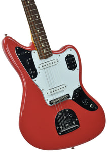 Fender® 60's Jaguar Lacquer in Fiesta Red - Front Left