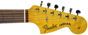 Fender® 60's Jaguar Lacquer in Fiesta Red - Headstock Front